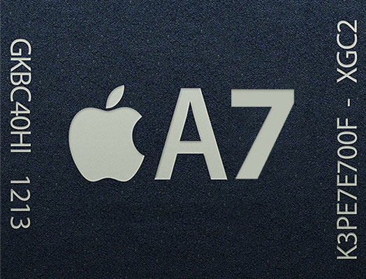 ชิป Apple A7 เร็วกว่ารุ่นเดิม 31% รองรับการประมวลผลแบบ 64-bi
