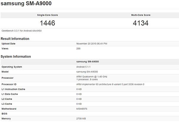 Galaxy A9 គ្រប់គ្នារំពឹងទុកថានឹងមកជាមួយ RAM 3GB