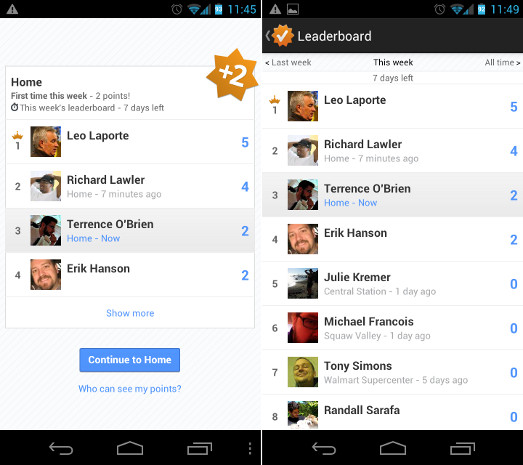 google latitude leaderboard
