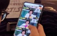 ภาพหลุด Samsung Galaxy S10+ ตัวเครื่องจริงขณะใช้งานบนรถโดยสาร ยืนยันมาพร้อมกล้องคู่หน้า และดีไซน์หน้าจอเจาะรู