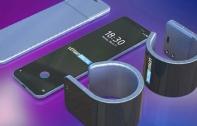 ชมคอนเซ็ปต์ สมาร์ทโฟนหน้าจอม้วนได้จาก Samsung มาพร้อมกล้องคู่หน้า-หลัง, รองรับการสแกนนิ้วใต้จอ และสามารถม้วนรอบข้อมือกลายเป็น Smartwatch ได้