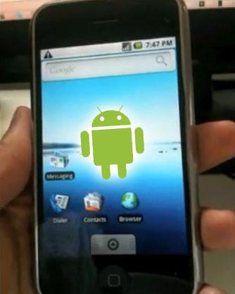 iPhone ทรยศ ลงระบบ Android แทน iPhone OS