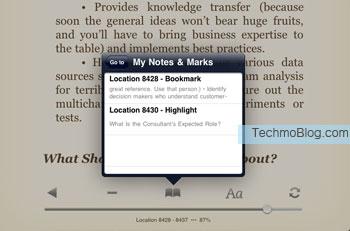 ค้นหา ตำแหน่งคั่นและไฮไลท์ ได้ง่ายดายจาก eBook