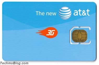 หน้าตา micro sim card จาก AT&T