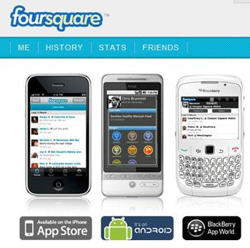 สามารถโหลด App Foursquare ได้ผ่านเครือข่ายแต่ละเจ้าครับ