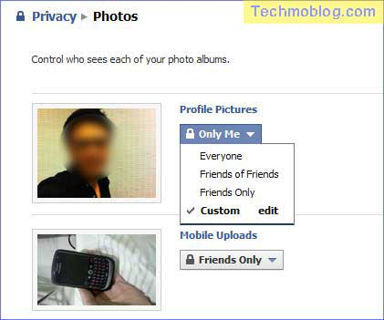 Facebook's album privacy