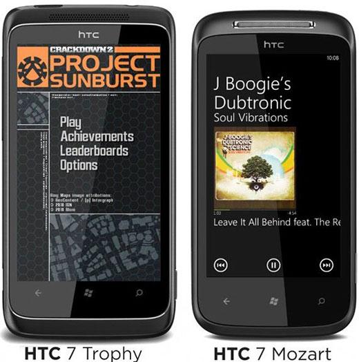 HTC Trophy และ HTC Mozart